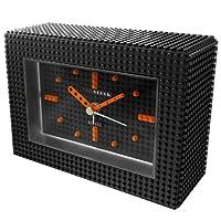 [ナノブロック]nanoblock デコレーション目覚まし時計 アラームクロック インテリアクロック おまけフィギュアセット「セキセイインコブルーオパーリン」付 ブラック 96902BK016
