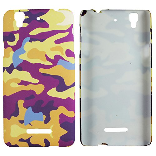Heartly Army Style Retro Color Armor Hybrid Hard Bumper Back Case Cover For Micromax Yu Yureka Cyanogenmod - Yellow Field