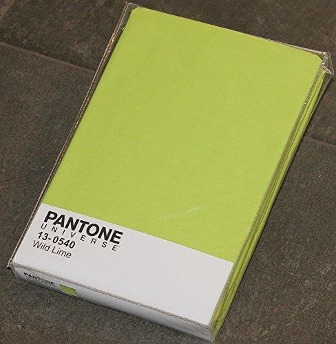 LENZUOLO SOTTO CON ANGOLI 2 PIAZZE LETTO MATRIMONIALE CM 180 x 200 PANTONE by BASSETTI 13-0540 WILD LIME VERDE TINTA UNITA 100% PURO COTONE