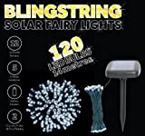 Blingstring Outdoor Solar Fairy Lights with 120 LED Bulbs