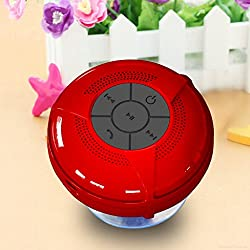 BTS-06 Mini Wireless Waterproof Hands-free Bluetooth Speaker w/ Suction Cup / Microphone - 4 Colors