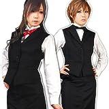 本格派★バーテンダー衣装ユニフォーム (テーラードカラータイプ ・Mサイズ)