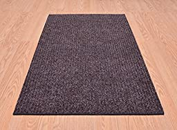 Tough Collection Roll Runner Grey Brown Blue 27 in or 36 in Wide x Your Custom Length Choice Slip Resistant Rubber Back Area Rugs and Runners (Brown, 27 in x 6 ft)