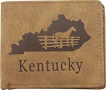 True Gear Suede State Wallets - Kentucky (Light Brown)