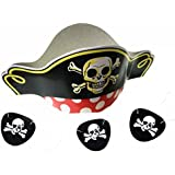 GIFTEXPRESS Pirate Hats and Felt Pirate Eye Patches 1 dozen