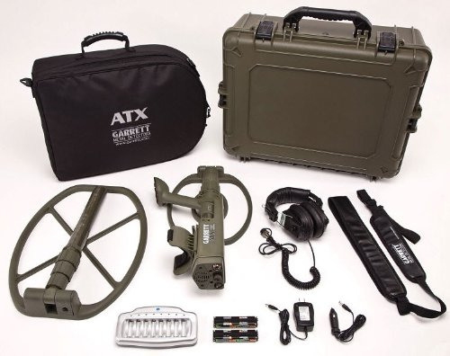 Garrett Atx Extreme Pulse Induction Metal Detector Deep Seeker Package With Two Coils And Military Grade Hard Case