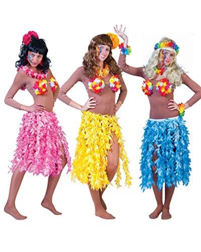 Pierro´s Kostüm Hawaii Rock Maui rosa Damenkostüm Frauenkostüm Damenrock Größe Einheitsgröße für Karneval, Fasching, Party