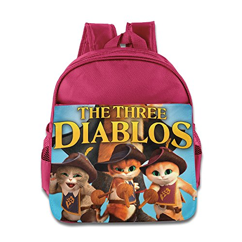 Puss In Boots The Three Diablos Kids School Backpack Bag (Diablo 3 Pad compare prices)