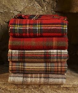 Antique Buchanan tartan pure wool knee rug throw from Highland Tweed