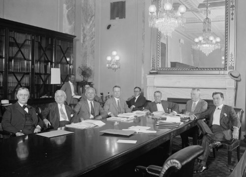 1925 photo Hearing by Joint Committee at Capitol, Washington, D.C. on postage rates etc., 7/20/25