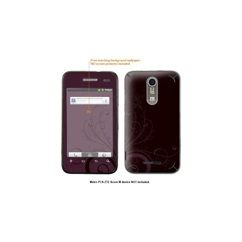 Protective Decal Skin Sticker for Metro PCS ZTE Score M case cover ZTEscoreM 142