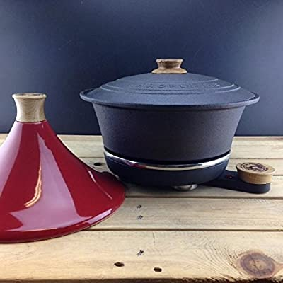 Netherton Foundry Shropshire Cast Iron Slow Cooker With Red Tagine Lid from Netherton Foundry Shropshire