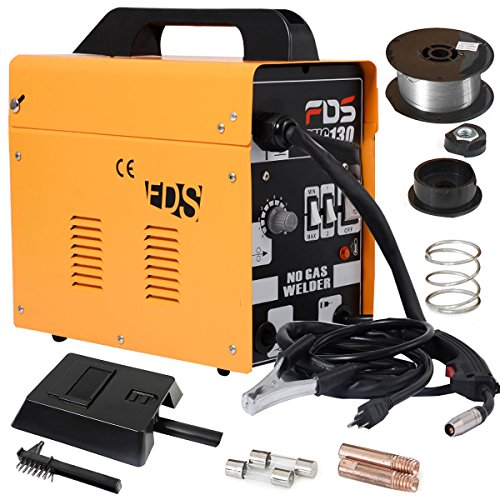 Best Price! Goplus® MIG 130 Welder Flux Core Wire Automatic Feed Welding Machine w/ Free Mask
