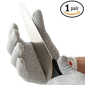NoCry Cut Resistant Gloves - High Performance Level 5 Protection, Food Grade