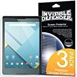 Nexus 9 Screen Protector - Invisible Defender HTC Nexus 9 [MAX HD CLARITY] Lifetime Warranty Perfect Touch Precision High Definition (HD) Clarity Film (3-Pack) for Google HTC Nexus 9