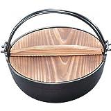 南部鉄器 ふる里鍋 深型18cm焼付 21007