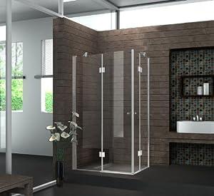 eckeinstieg duschkabine 8 mm duschabtrennung dusche echt glas 120 x 100 x 195 cm corno ohne. Black Bedroom Furniture Sets. Home Design Ideas