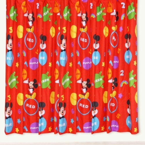 mickey mouse club house bedroom curtains set 66 x 72 inches matches
