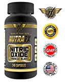 Nutrafx Nitric Oxide No2 240 Capsules Nitric Oxide Booster 3000mg 60 Servings Bodybuilding Sports Nutrition L-arginine Supplement Build Muscle Fast + Boost Performance, Build Muscle + Increase Workout Endurance Made in the USA 100% Money Back Satisfaction