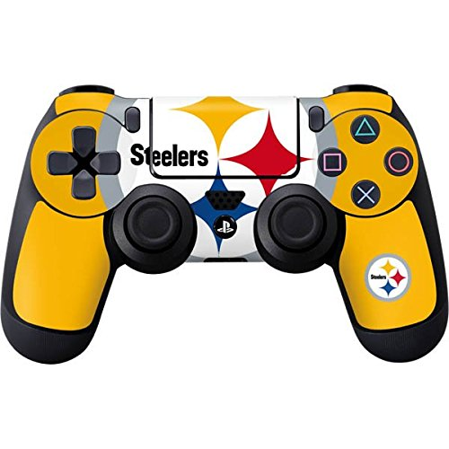 NFL Pittsburgh Steelers PS4 DualShock4 Controller Skin - Pittsburgh Steelers Large Logo Vinyl Decal Skin For Your PS4 DualShock4 Controller (Skin Industries Decal compare prices)