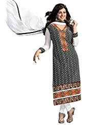 Surat Tex Black Color Digital Print Cotton Semi-Stitched Salwar Suit-D374DL10RU