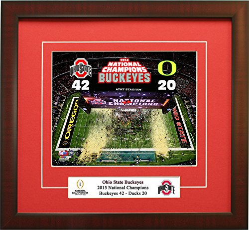 The Ohio State Buckeyes, 2014 National Champions Framed 8x10 Photo.