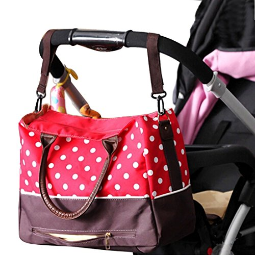 KF Baby Luv Diaper Bag Value Set, with Crossbody bag strap, Stroller hooks, more