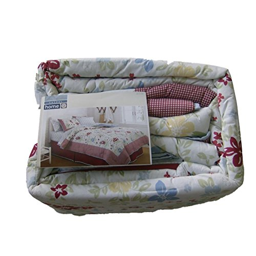 Home Twin Bed In A Bag Set Red Checks & Flowers Comforter Sheets Sham front-1004981