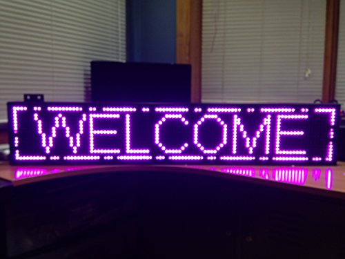 High Resolution Led Scrolling Sign P10 Purple