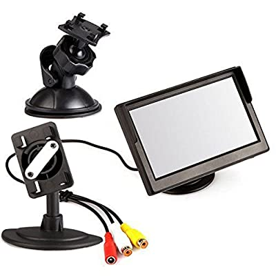 "ATian 7"" TFT LCD Car RearView Monitor Support Memory Card DVD VCR Monitor With Remote and Stand & Support Rotating The Screen with Sound Function"