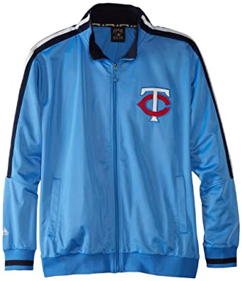 MLB Minnesota Twins 1965 Cooperstown Long Sleeve Full Zip Fleece Track Jacket by Majestic