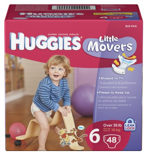 Huggies Little Movers Diapers, Size 6, 48 Count front-23167