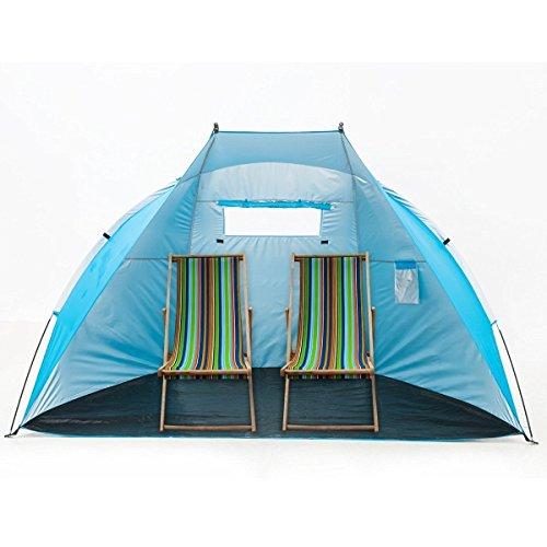 iCorer-EasyUp-Outdoor-Portable-Beach-Cabana-Tent-Sun-Shelter-Sunshade-Blue-945L-x-472W-x-55H