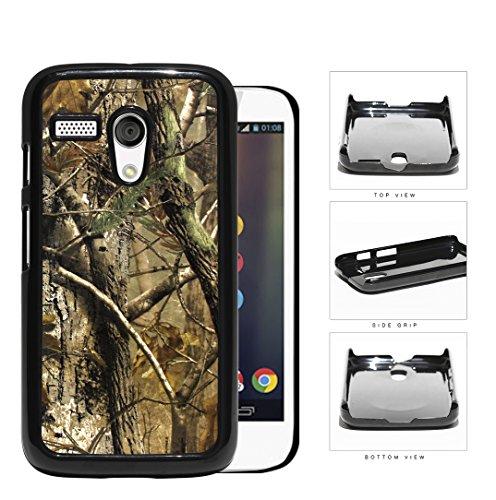 Woods Camo Fall Season Hard Plastic Snap On Cell Phone Case Motorola Moto G