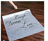 """""""Laugh, Dream, Love"""" Polyester 100 X 3 Aisle Runner"""