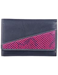 Leder Mart 2400 Women's Wallet (Black, FL013)