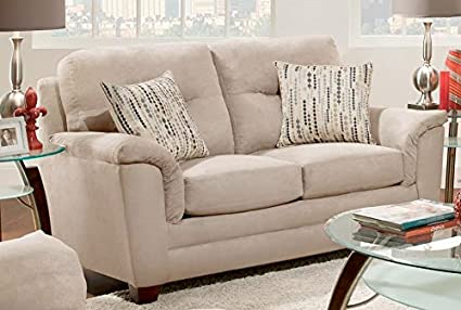 Chelsea Home Furniture Cable Loveseat, Victory Lane River Rock