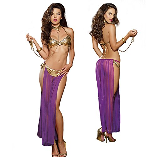 Follow518 Sexy Harem Slave Costume Classic Ladies Halloween Fancy Dress Outfit