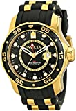 Invicta Pro Diver Men's Quartz Watch with Black Dial  Analogue display on Multicolour Pu Strap 6991