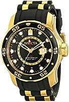 Invicta Pro Diver Men's Quartz Watch with Black Dial  Analogue display on Multicolour Pu Strap 6991