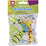 Foam Stickers 75/Pkg, Fish Bowl