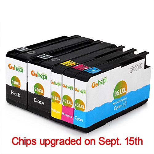 Gohepi Replacement for HP 950XL 951XL Ink Cartridges High Yield 2 Black 1 Cyan 1 Magenta 1 Yellow Compatible with HP Officejet Pro 8620 8600 Plus 8610 8100 276dw 8615 8630 251dw 8625 8640 8660 Printer