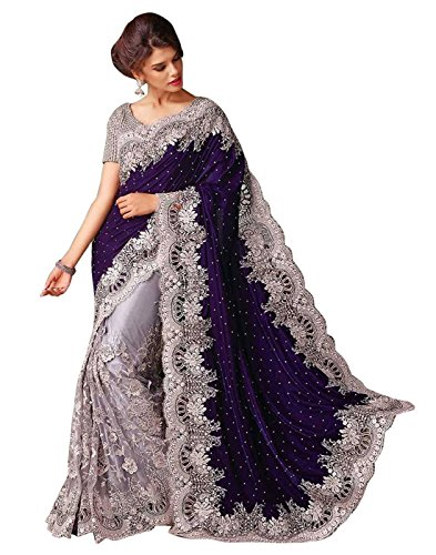 Surat-Tex-Womens-Net-Saree-with-Blouse-PieceI480SECN6TSBlue-Silver