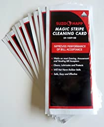 Dollar Bill Validator / Acceptor Pre-saturated Cleaning Card 50/pk