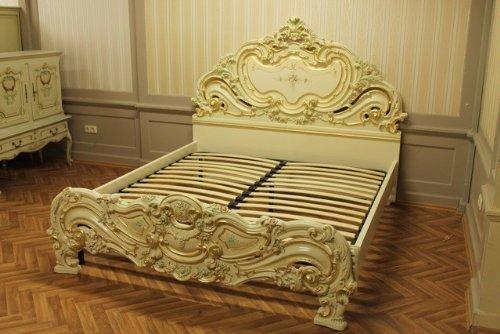 Doppelbett Bett 180×200 Schlafzimmer Antik StilStil Barock Vp7731Q günstig kaufen
