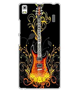 Case Cover Guitar Printed Black Hard Back Cover For Lenovo A7000/K3CC Note
