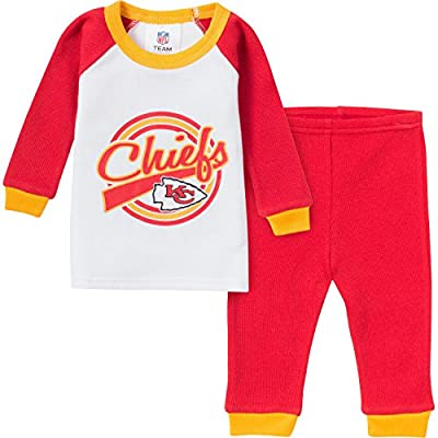 NFL Kansas City Chiefs Thermal Pajama Set, 0-6 Months, Red