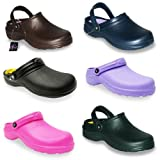 New Ladies Womens Lightweight Garden Kitchen Clogs Shoes UK 4-8