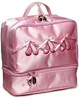Katz Dancewear KB37 Joli sac porté main pour petites filles avec motif chaussons de danse Satin Rose