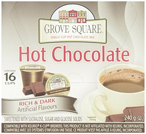 Grove Square Rich and Dark Hot Chocolate, 16-Count, 240gm